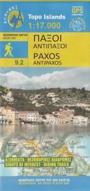 PAXOS ANTIPAXOS ANTIXAROS mapa turystyczna 1:17 000 ANAVASI GRECJA