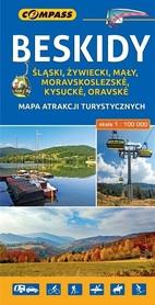 BESKIDY mapa atrakcji turystycznych 1:100 000 COMPASS 2018