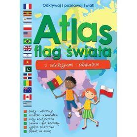 ATLAS FLAG ŚWIATA Z NAKLEJKAMI  I PLAKATEM wyd. WILGA