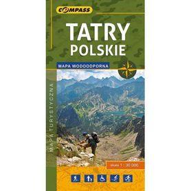 TATRY POLSKIE mapa turystyczna WODOODPORNA 1:30 000 COMPASS 2018