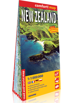 NOWA ZELANDIA mapa laminowana 1:1 000 000 EXPRESSMAP 2019