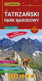 TATRZAŃSKI PARK NARODOWY laminowana mapa turystyczna 1:30 000 COMPASS 2018