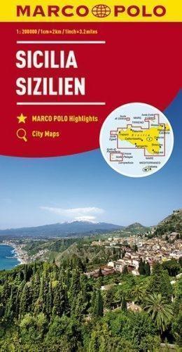 SYCYLIA SICILY mapa samochodowa 1:200 000 MARCO POLO 2017