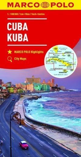 KUBA CUBA mapa samochodowa 1: 000 000 MARCO POLO 2017