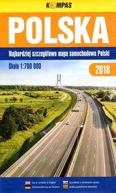 POLSKA mapa samochodowa 1:700 000 KOMPASS PWN 2018