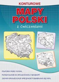 KONTUROWE MAPY POLSKI Z ĆWICZENIAMI LITERAT