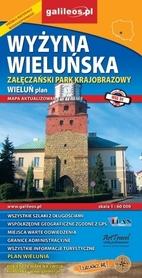 WYŻYNA WIELUŃSKA Załęczański Park Krajobrazowy Wieluń mapa PLAN