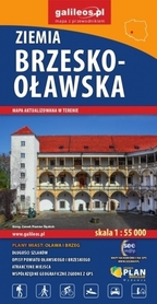 ZIEMIA BRZESKO - OŁAWSKA mapa turystyczna 1:55 000 PLAN