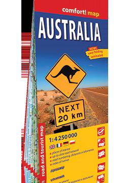 AUSTRALIA mapa laminowana 1:4 250 000 EXPRESSMAP 2019