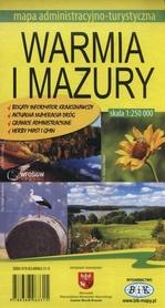 WARMIA I MAZURY mapa administracyjno-turystyczna 1:250 000 wyd. BiK