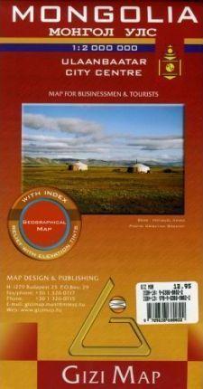MONGOLIA mapa geograficzna 1:2 000 000 (Mongolia Geografical Map) GIZIMAP