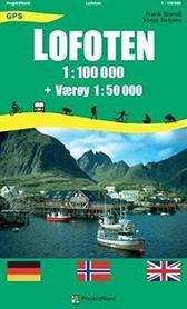 LOFOTY NORWESKIE laminowana mapa turystyczna 1:100 000/1:50 000 PROJEKTNORD