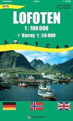 LOFOTY NORWESKIE laminowana mapa turystyczna 1:100 000/1:50 000 PROJEKTNORD (1)