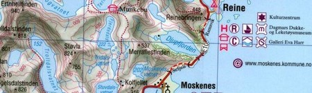 LOFOTY NORWESKIE laminowana mapa turystyczna 1:100 000/1:50 000 PROJEKTNORD (3)