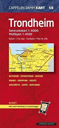 TRONDHEIM plan miasta 1:8 000 Cappelen Damm