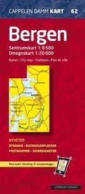 BERGEN plan miasta 1:20 000 Cappelen Damm