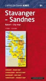 STAVANGER - SANDNES plan miasta 1:20 000 Cappelen Damm
