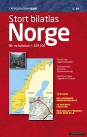 NORWEGIA atlas samochodowy 1:325 000 Cappelen Damm