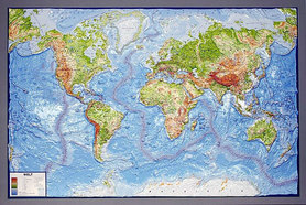ŚWIAT FIZYCZNY MAPA PLASTYCZNA 3D 1:30 000 000 wer. angielska GEO-INSTITUT