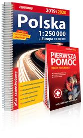 POLSKA 2019/2020 ATLAS SAMOCHODOWY 1:250 000 + PIERWSZA POMOC + EUROPA EXPRESSMAP