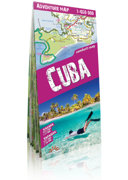 KUBA CUBA laminowana mapa samochodowo - turystyczna EXPRESSMAP 2018