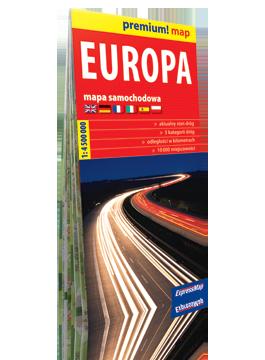 EUROPA 2019 mapa samochodowa w kartonowej okładce 1:4 500 000 EXPRESSMAP