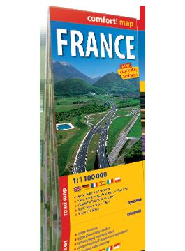 FRANCJA laminowana mapa samochodowa 1:1 100 000 wersja angielska EXPRESSMAP 2019