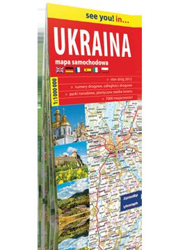 UKRAINA papierowa mapa samochodowa 1:1 000 000 EXPRESSMAP 2018