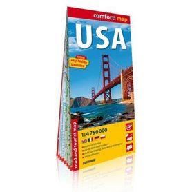 USA laminowana mapa drogowo-turystyczna 1:4 750 000 wersja angielska EXPRESS MAP 2020