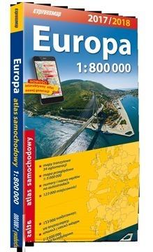 EUROPA ATLAS SAMOCHODOWY 1:800 000 2017/2018 EXPRESSMAP