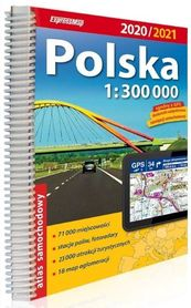 POLSKA atlas samochodowy 1:300 000 2020/2021 EXPRESSMAP