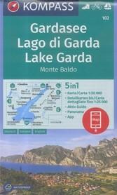 JEZIORO GARDA 102 wodoodporna mapa turystyczna 1:50 000 KOMPASS