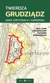 TWIERDZA GRUDZIĄDZ mapa fortyfikacji i garnizonu plan 1:20000 JB72