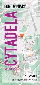 Cytadela Poznańska - plan parku i fortyfikacji 1:2 500 JB72