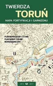 TWIERDZA TORUŃ mapa fortyfikacji i garnizonu plan 1:15 000 JB72