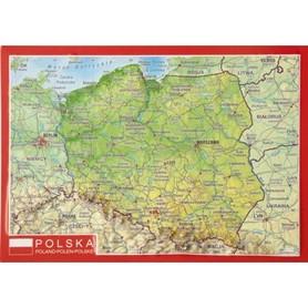 POLSKA pocztówka reliefowa TRÓJWYMIAROWA GEORELIEF