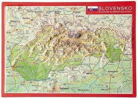 SŁOWACJA MAPA pocztówka reliefowa GEORELIEF