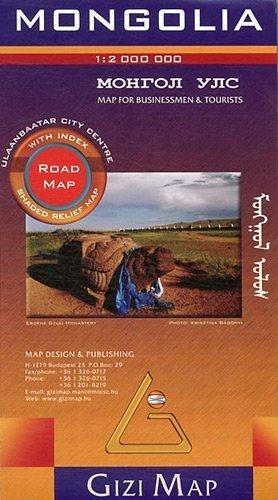 MONGOLIA mapa samochodowa 1:2 000 000 GIZIMAP 2020