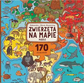 ZWIERZĘTA NA MAPIE Puzzle 170 elementów DWIE SIOSTRY