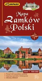 Mapa zamków Polski 1:900 000 COMPASS 2018