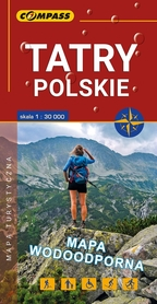 TATRY POLSKIE mapa turystyczna LAMINOWANA 1:30 000 COMPASS 2018