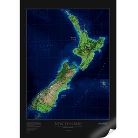 NOWA ZELANDIA ścienna mapa satelitarna 1:1 850 000 ALBEDO39