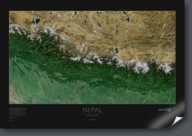 NEPAL ścienna mapa satelitarna 1:970 000 ALBEDO39