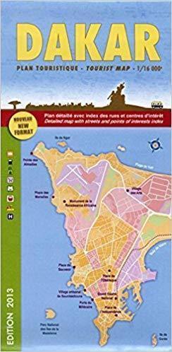 DAKAR plan miasta 1:16 000 LAURE KANE