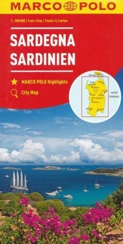 SARDYNIA mapa samochodowa 1:200 000 MARCO POLO 2017