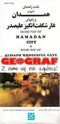 Hamadan City Guide Map & Alisadr wonderful Cave GITASHENASI - Iran