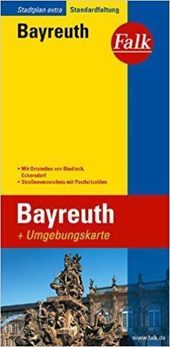 BAYREUTH plan miasta 1:15 000 i mapa regionu 1:150 000 FALK VERLAG
