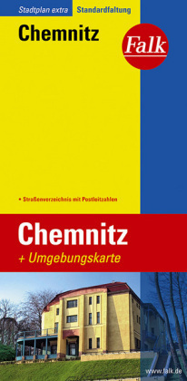 Chemnitz plan miasta 1:20 000 i mapa regionu 1:150 000 FALK VERLAG