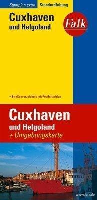 Cuxhaven plan miasta 1:20 000 i mapa regionu 1:150 000 FALK VERLAG