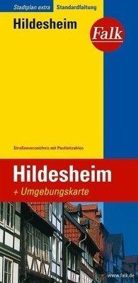 Hildesheim  plan miasta 1:18 500 i mapa regionu 1:150 000 FALK VERLAG
